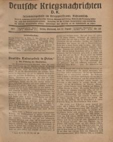 Deutsche Kriegsnachrichten (D.K.), Mittwoch, 22. August 1917, Nr 121.