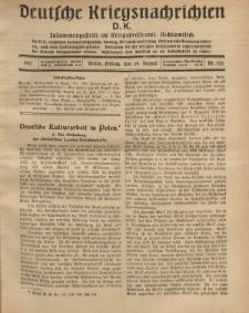 Deutsche Kriegsnachrichten (D.K.), Mittwoch, 24. August 1917, Nr 122.
