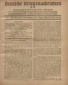 Deutsche Kriegsnachrichten (D.K.), Montag, 27. August 1917, Nr 123.
