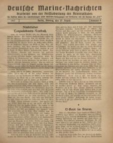"""Deutsche Marine=Nachrichten...""""D.K."""", Montag, 27. August 1917, Nummer 4."""