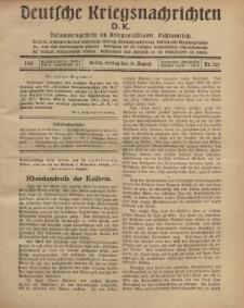 Deutsche Kriegsnachrichten (D.K.), Freitag, 31. August 1917, Nr 125.