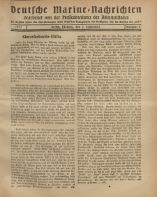 """Deutsche Marine=Nachrichten...""""D.K."""", Montag, 3. September 1917, Nummer 5."""