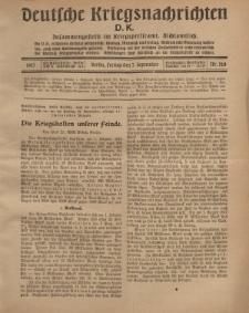 Deutsche Kriegsnachrichten (D.K.), Freitag, 7. September 1917, Nr 128.