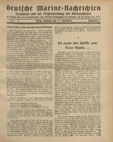 """Deutsche Marine=Nachrichten...""""D.K."""", Montag, 17. September 1917, Nummer 7."""