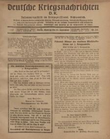 Deutsche Kriegsnachrichten (D.K.), Montag, 24. September 1917, Nr 135.