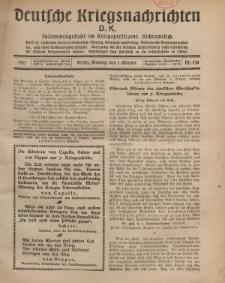 Deutsche Kriegsnachrichten (D.K.), Montag, 1. Oktober 1917, Nr 138.