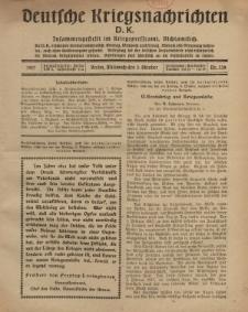 Deutsche Kriegsnachrichten (D.K.), Mittwoch, 3. Oktober 1917, Nr 139.