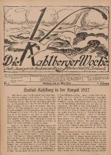 Die Kahlberger Woche Nr. 1, 15. Mai 1927, 2. Jahrgang