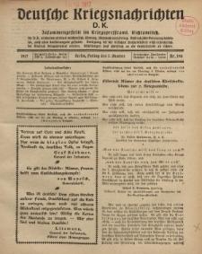 Deutsche Kriegsnachrichten (D.K.), Freitag, 5. Oktober 1917, Nr 140.