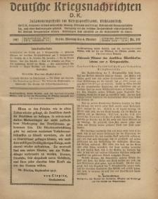 Deutsche Kriegsnachrichten (D.K.), Montag, 8. Oktober 1917, Nr 141.