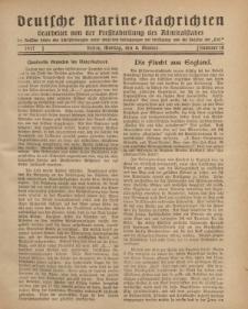 """Deutsche Marine=Nachrichten...""""D.K."""", Montag, 8. Oktober 1917, Nummer 10."""