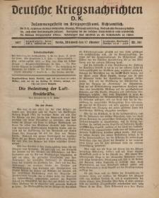 Deutsche Kriegsnachrichten (D.K.), Mittwoch, 17. Oktober 1917, Nr 145.