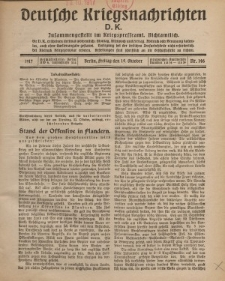 Deutsche Kriegsnachrichten (D.K.), Freitag, 19. Oktober 1917, Nr 146.