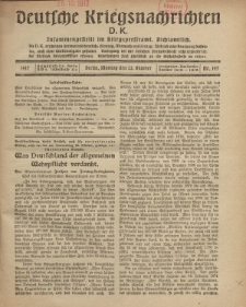 Deutsche Kriegsnachrichten (D.K.), Montag, 22. Oktober 1917, Nr 147.