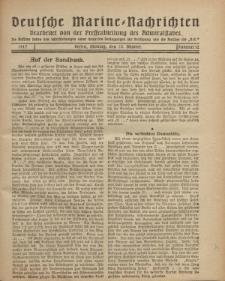 """Deutsche Marine=Nachrichten...""""D.K."""", Montag, 22. Oktober 1917, Nummer 12."""