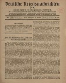 Deutsche Kriegsnachrichten (D.K.), Freitag, 26. Oktober 1917, Nr 149.