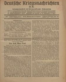 Deutsche Kriegsnachrichten (D.K.), Montag, 29. Oktober 1917, Nr 150.