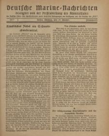 """Deutsche Marine=Nachrichten...""""D.K."""", Montag, 29. Oktober 1917, Nummer 13."""