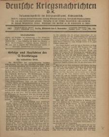 Deutsche Kriegsnachrichten (D.K.), Mittwoch, 2. November 1917, Nr 152.