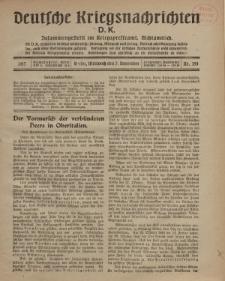 Deutsche Kriegsnachrichten (D.K.), Mittwoch, 7. November 1917, Nr 154.