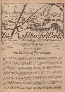 Die Kahlberger Woche Nr. 3, 28. Mai 1927, 2. Jahrgang