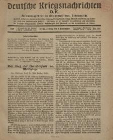 Deutsche Kriegsnachrichten (D.K.), Freitag, 9. November 1917, Nr 155.
