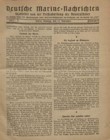 """Deutsche Marine=Nachrichten...""""D.K."""", Montag, 12. November 1917, Nummer 15."""