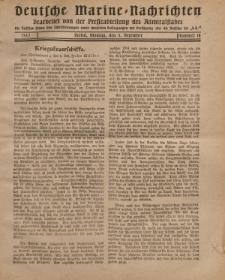 """Deutsche Marine=Nachrichten...""""D.K."""", Montag, 3. Dezember 1917, Nummer 18."""