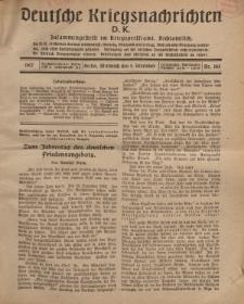 Deutsche Kriegsnachrichten (D.K.), Mittwoch, 5. Dezember 1917, Nr 165.