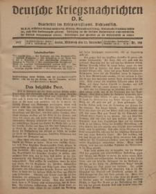 Deutsche Kriegsnachrichten (D.K.), Mittwoch, 12. Dezember 1917, Nr 168.