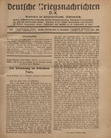 Deutsche Kriegsnachrichten (D.K.), Freitag, 14. Dezember 1917, Nr 169.