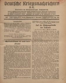 Deutsche Kriegsnachrichten (D.K.), Montag, 17. Dezember 1917, Nr 170.