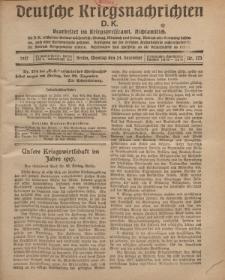 Deutsche Kriegsnachrichten (D.K.), Montag, 24. Dezember 1917, Nr 173.