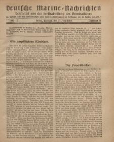 """Deutsche Marine=Nachrichten...""""D.K."""", Montag, 31. Dezember 1917, Nummer 22."""