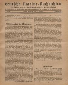 """Deutsche Marine=Nachrichten...""""D.K."""", Montag, 14. Januar 1918, Nummer 24."""