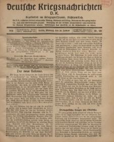 Deutsche Kriegsnachrichten (D.K.), Montag, 28. Januar 1918, Nr 186.