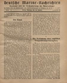 """Deutsche Marine=Nachrichten...""""D.K."""", Montag, 28. Januar 1918, Nummer 26."""