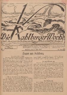 Die Kahlberger Woche Nr. 8, 2. Juli 1927, 2. Jahrgang