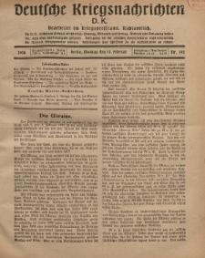 Deutsche Kriegsnachrichten (D.K.), Montag, 11. Februar 1918, Nr 192.