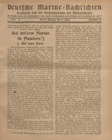 """Deutsche Marine=Nachrichten...""""D.K."""", Montag, 4. März 1918, Nummer 31."""