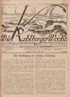 Die Kahlberger Woche Nr. 10, 16. Juli 1927, 2. Jahrgang
