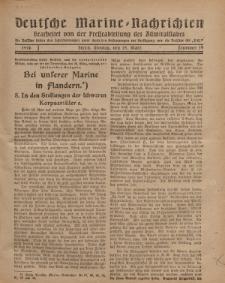 """Deutsche Marine=Nachrichten...""""D.K."""", Montag, 25. März 1918, Nummer 34."""