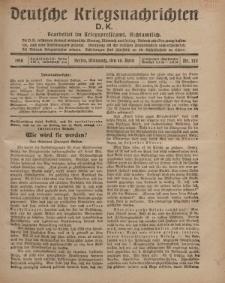 Deutsche Kriegsnachrichten (D.K.), Mittwoch, 10. April 1918, Nr 215.