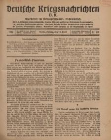 Deutsche Kriegsnachrichten (D.K.), Freitag, 19. April 1918, Nr 219.