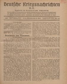 Deutsche Kriegsnachrichten (D.K.), Mittwoch, 24. April 1918, Nr 221.