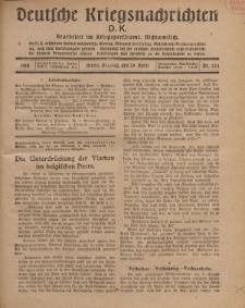 Deutsche Kriegsnachrichten (D.K.), Montag, 29. April 1918, Nr 223.