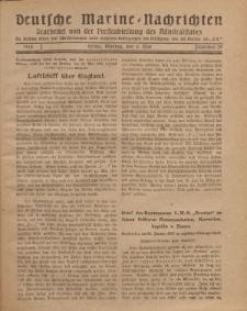 """Deutsche Marine=Nachrichten...""""D.K."""", Montag, 6. Mai 1918, Nummer 39."""