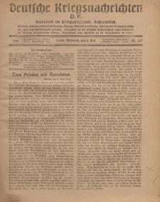 Deutsche Kriegsnachrichten (D.K.), Mittwoch, 8. Mai 1918, Nr 227.