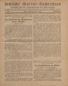 """Deutsche Marine=Nachrichten...""""D.K."""", Montag, 27. Mai 1918, Nummer 41."""
