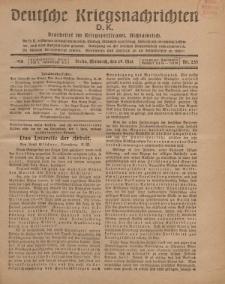 Deutsche Kriegsnachrichten (D.K.), Mittwoch, 29. Mai 1918, Nr 235.